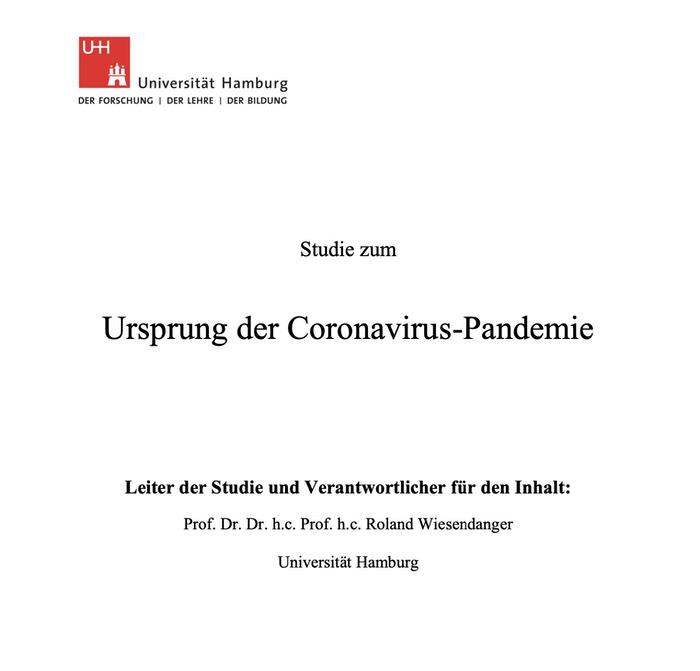 Studie zum Ursprung der Coronavirus-Pandemie
