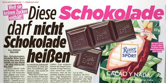 Diese Schokolade darf nicht Schokolade heißen