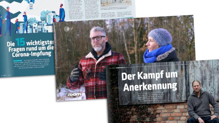 """Screenshots aus dem Magazin """"Pieks"""" und dem ZDF zum Thema Impfen"""