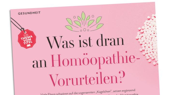 """Homöopathie-Geschichte in der Zeitschrift """"Leben und erziehen"""""""