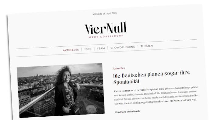 Screenshot der Website viernull.de