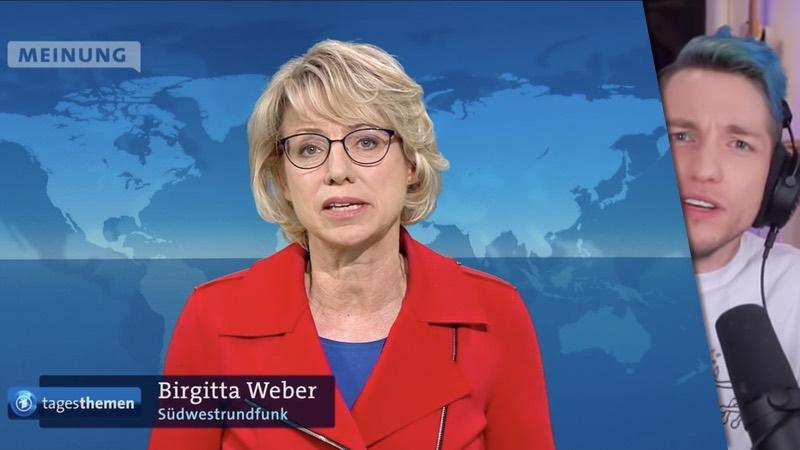 Birgitta Weber in den Tagesthemen und Rezo auf Youtube