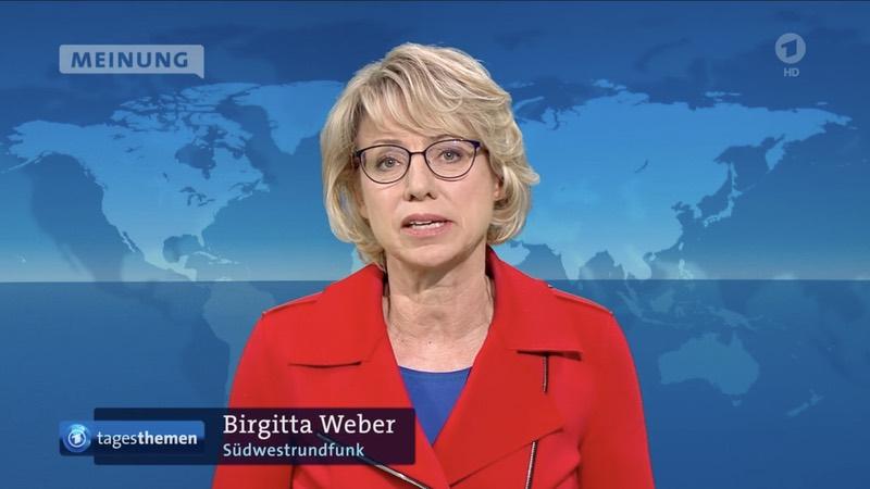 """Birgitta Weber vom Südwestfunk spricht den """"Tagesthemen""""-Kommentar"""