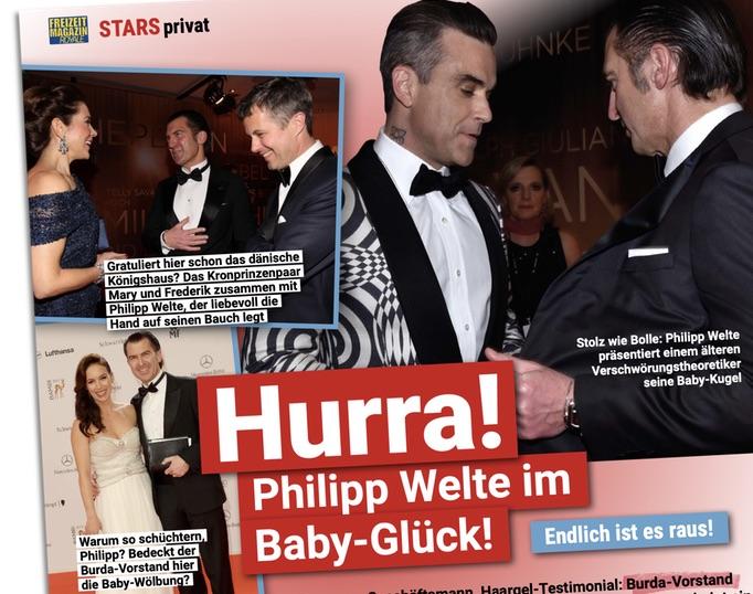 Hurra! Philipp Welte im Baby-Glück!