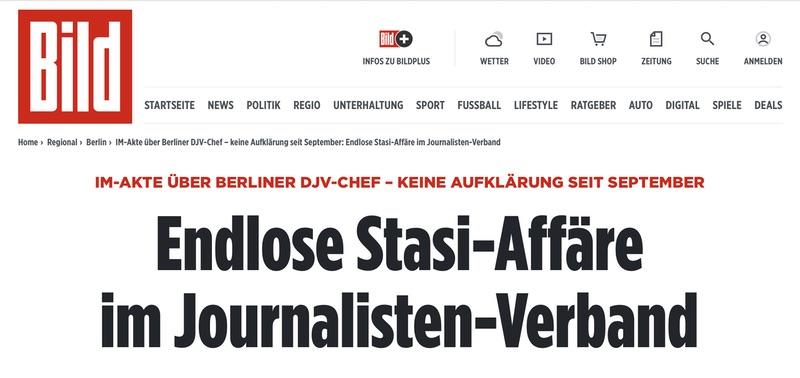 Endlose Stasi-Affäre im Journalisten-Verband