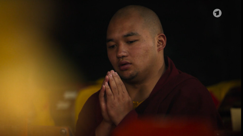 Ein Mönch beim Gebet.