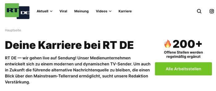 Deine Karriere bei RT DE