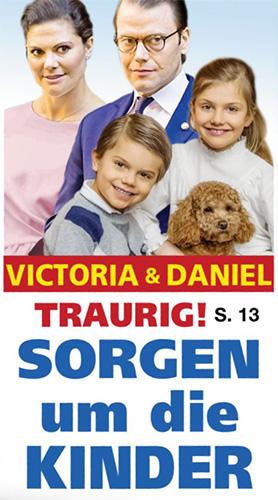 Victoria & Daniel - Traurig! - SORGEN im die KINDER [dazu ein Foto von Victoria und Daniel mit ihren eigenen Kindern]