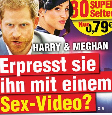 Harry & Meghan - Erpresst sie ihn mit einem Sex-Video?