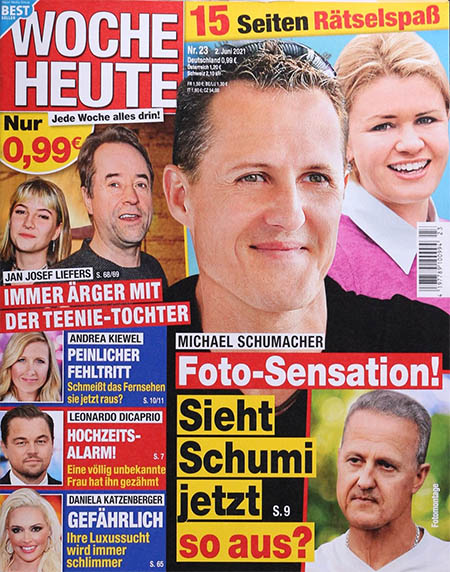 Michael Schumacher - Foto-Sensation! - Sieht Schumi jetzt so aus? [dazu ebenfalls ein Foto von Schumacher mit grauen Haaren und Falten]