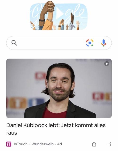 Google-App-Startseite: Daniel Küblböck lebt: Jetzt kommt alles raus