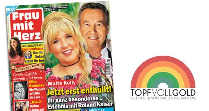 """Cover """"Frau mit Herz"""": """"Maite Kelly: Jetzt erst enthüllt! Ihr ganz besonderes Erlebnis mit Roland Kaiser"""""""