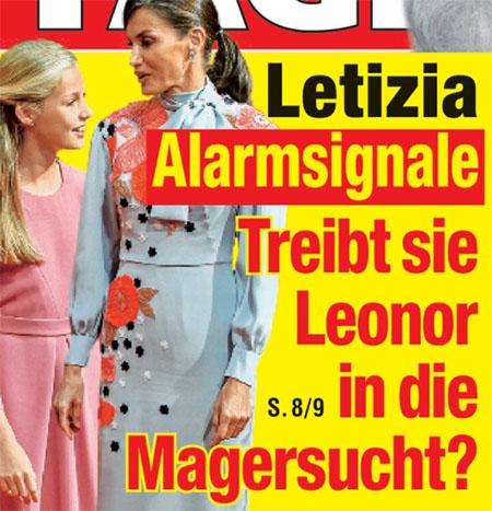 Letizia - Alarmsignale - Treibt sie Leonor in die Magersucht?