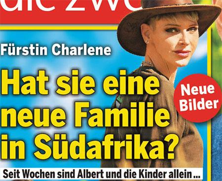 Fürstin Charlene - Hat sie eine neue Familie in Südafrika? - Seit Wochen sind Albert und die Kinder allein ...