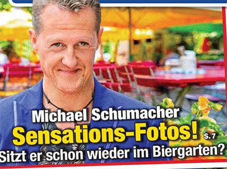 Michael Schumacher - Sensations-Fotos! - Sitzt er schon wieder im Biergarten?