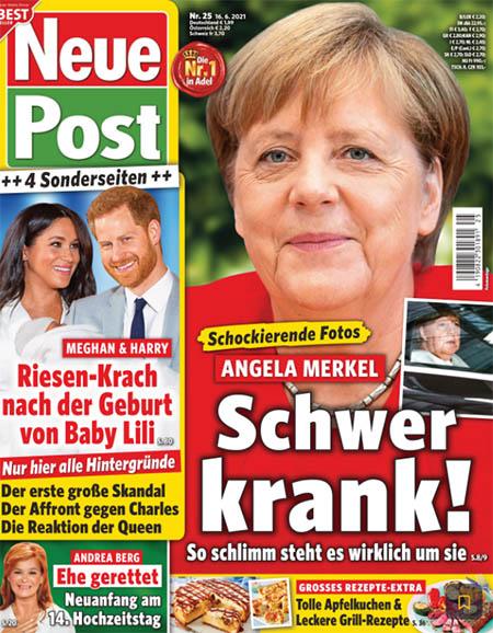 Schockierende Fotos - Angela Merkel - Schwer krank! So schlimm steht es wirklich um sie