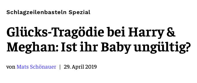 Glücks-Tragödie bei Harry & Meghan: Ist ihr Baby ungültig?