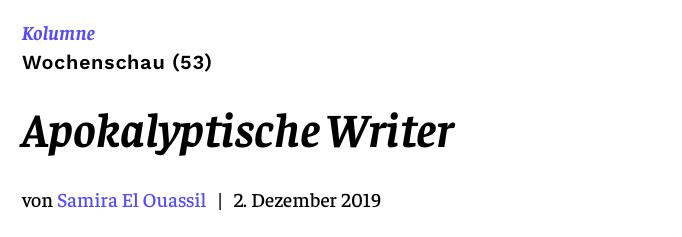 Apokalyptische Writer