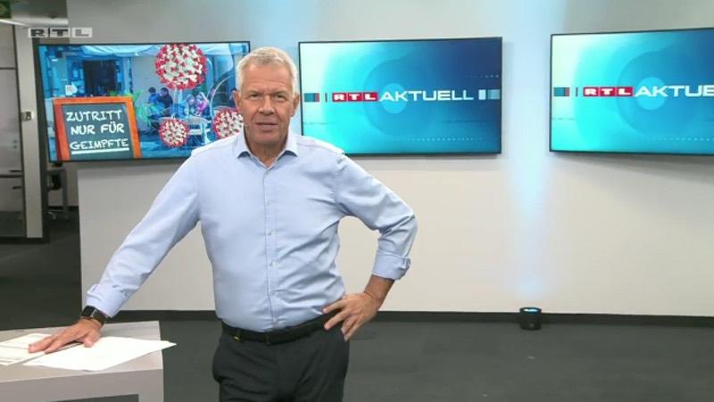 Peter Kloeppel in der neuen Früh-Ausgabe von RTL aktuell