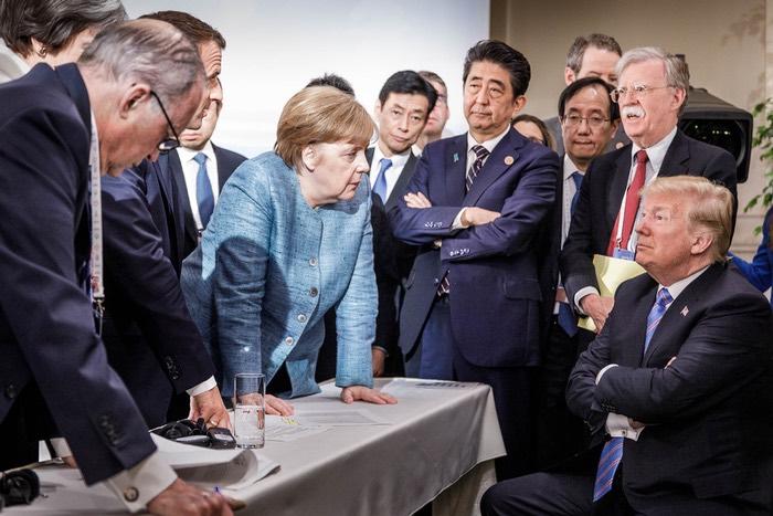 Merkel und Trump beim G7-Treffen