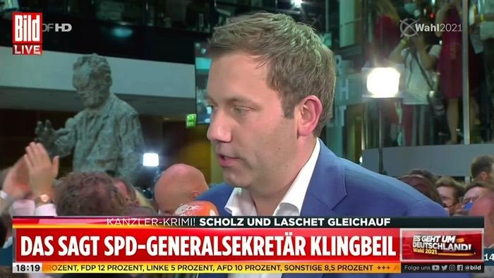 ZDF-Interview mit Lars Klingbeil bei Bild Live
