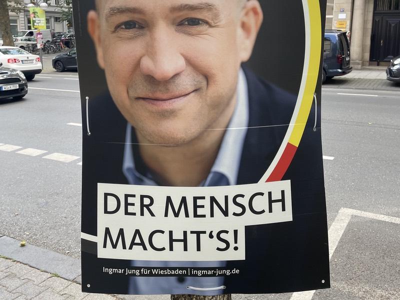 """CDU-Wahlplakat: """"Der Mensch macht's!"""""""