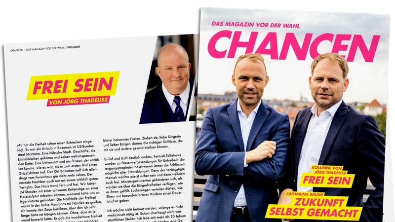 """Kolumne von Jörg Thadeusz in FDP-Magazin """"Chancen"""""""