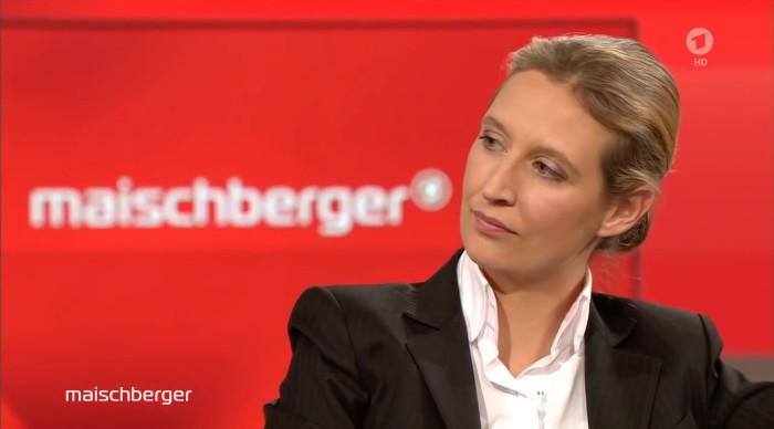 """AfD-Politikerin Alice Weidel in der Sendung """"Maischberger"""" (ARD) am 16.3.2016"""