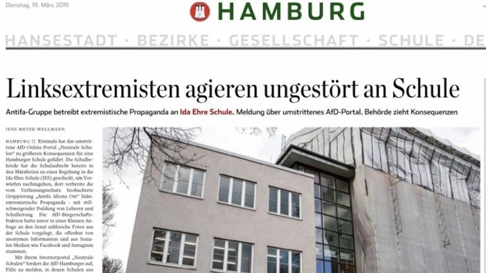 Linksextremisten agieren ungestört an Hamburger Schule