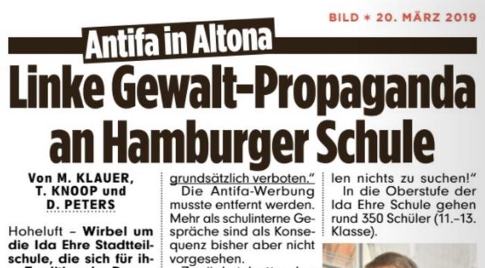Linke Gewalt-Propaganda an Hamburger Schule