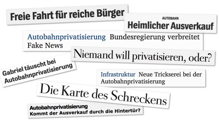 Keiner schreibt über die Privatisierung der Autobahnen!   Übermedien