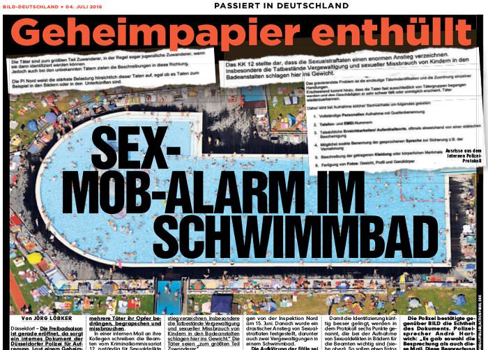 """""""Bild"""" löst """"Sex-Mob-Alarm"""" aus"""