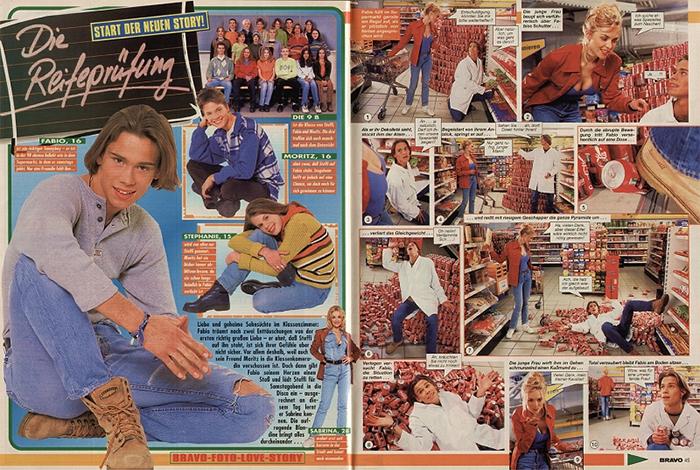 """Auszug aus der """"Bravo""""-Foto-Love-Story """"Die Reifeprüdung"""" von 1997"""