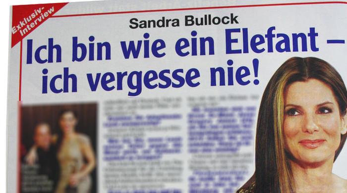 Sandra Bullock: Ich bin wie ein Elefant - ich vergesse nie