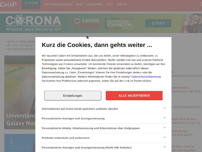 Screenshot: chip.de