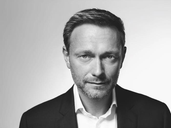 Schwarz-weißes Foto von Christian Lindner, Porträt
