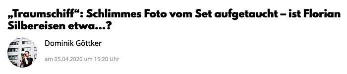 """""""Traumschiff"""": Schlimmes Foto vom Set aufgetaucht – ist Florian Silbereisen etwa…?"""