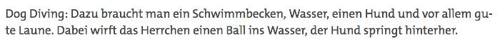 """SWR Landesschau zu """"Dog Diving"""""""