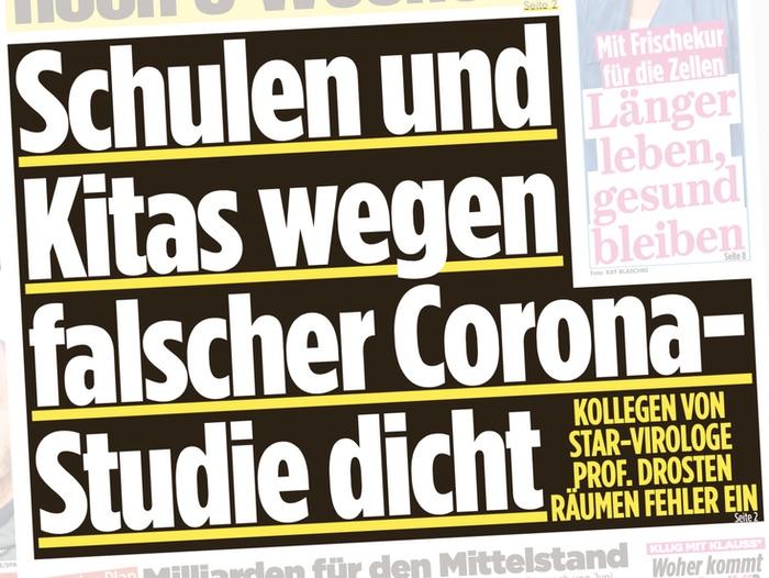Schulen und Kitas wegen falscher Corona-Studie dicht