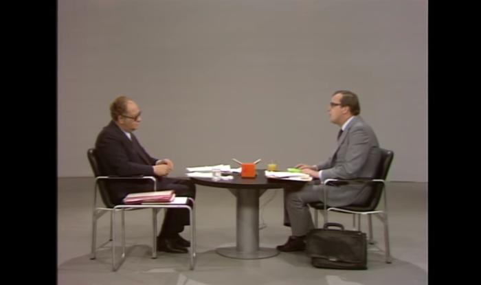 """Das damals traditionelle """"TV-Duell"""" im ORF, 1975"""