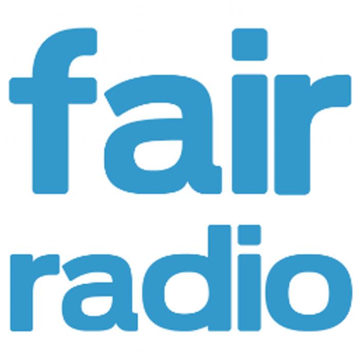 Schriftzug fair radio