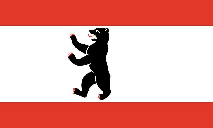 Die Flagge der Stadt Berlin
