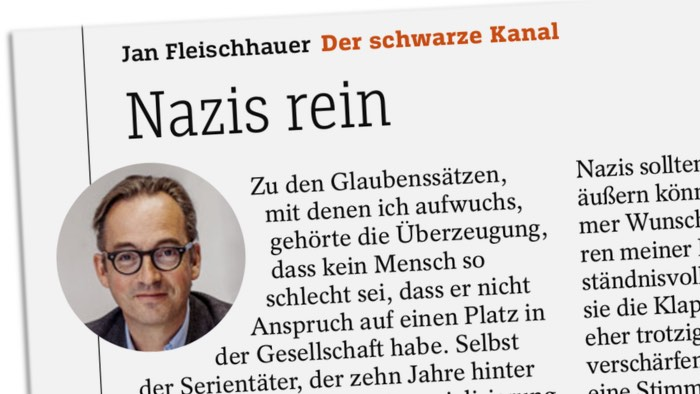 Jan Fleischhauer: Der schwarze Kanal - Nazis rein