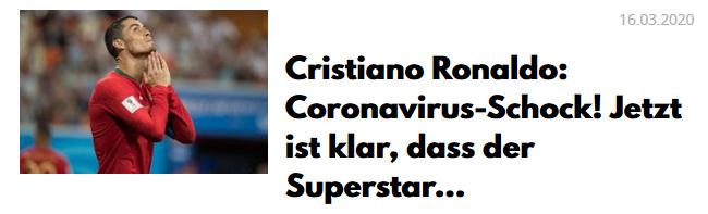 Christiano Ronaldo: Coronavirus-Schock! Jetzt ist klar, dass der Superstar...