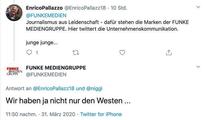 Wir haben ja nicht nur den Westen ...