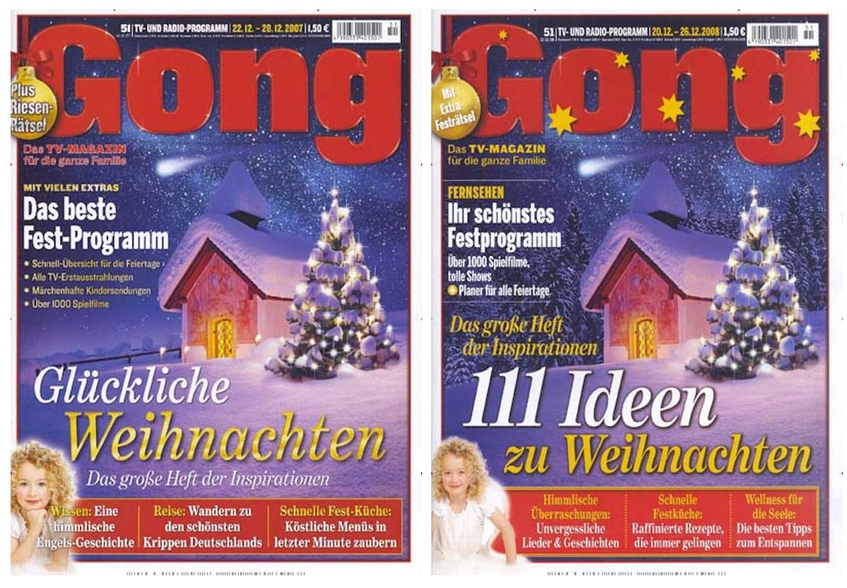 Zwei nahezu identische Titelblätter mit derselben Kapelle.