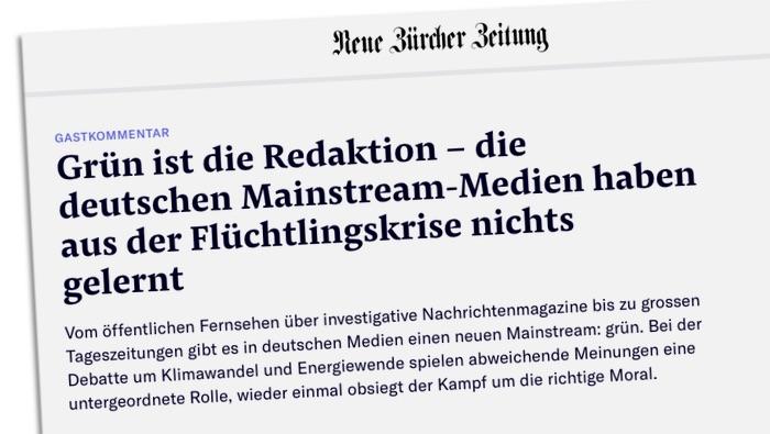 Grün ist die Redaktion - die deutschen Mainstream-Medien haben aus der Flüchtlingskrise nichts gelernt