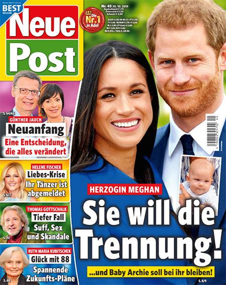 Herzogin Meghan - Sie will die Trennung ... und Baby Archie soll bei ihr bleiben!