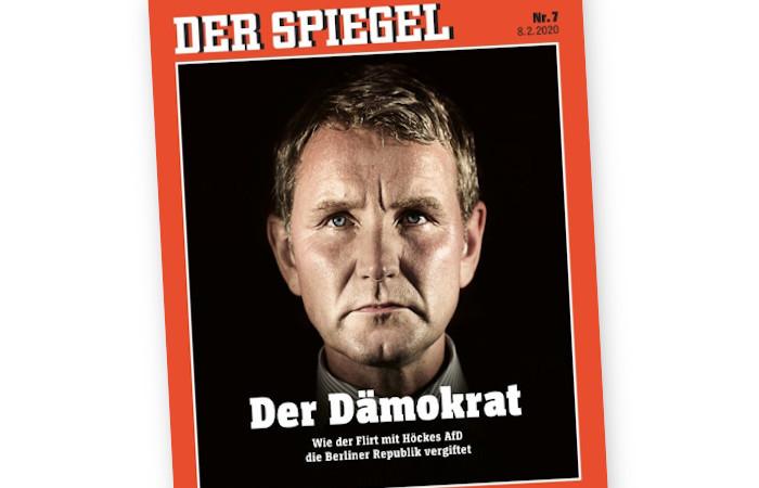 AfD-Politiker Björn Höcke auf dem Titelbild des Magazins Der Spiegel