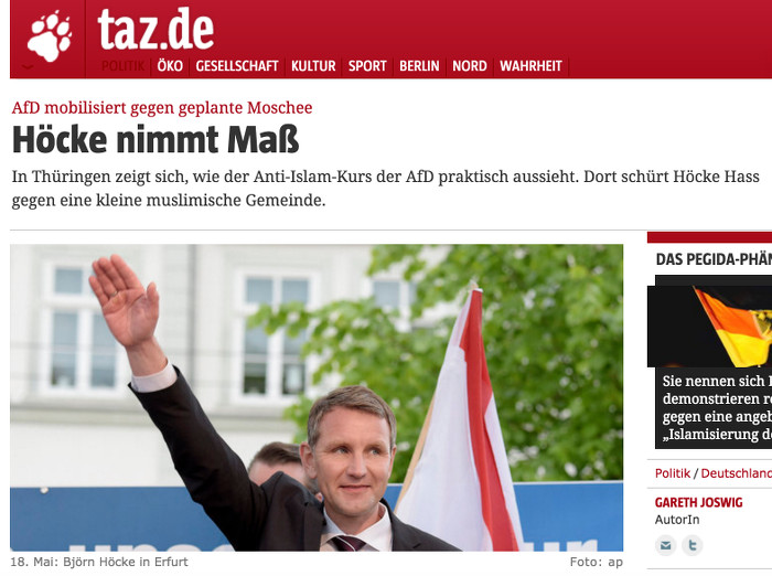 Screenshot taz.de
